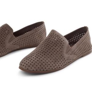 Lucky Brand Taupe Carthy Perforated Loafer size 8